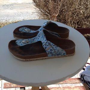 Womans Birkenstock sandals.